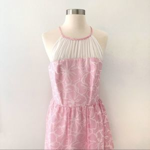 Lilly Pulitzer Kailey Chiffon Halter Floral Dress